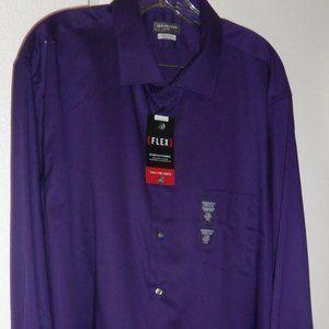 NWT: Van Heusen Flex Shirt, Sz 18 1/2-36-37 (XXL)